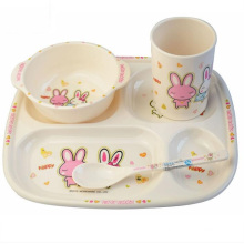 (BC-MK1009) Fashinable Design Reusable Melamine 4PCS Kids Cute Dinner Set
